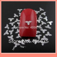 aries stickers - MNS349S silver Aries design nail slices gold metal nail art decorations DIY nail sticker approx