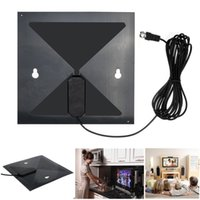 Wholesale 2015 Best Price New High Quality Clear Flat Design High Gain TV Antenna TV HD Digital Antenna No More Cable Bills Genuine