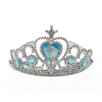 Wholesale Frozen Children Crown Princess Anna Elsa Crown girl toy Princess tiara Headdress Cartoon