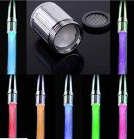 Wholesale color Glowing LED faucet tap Temperature Sensor LED faucet light Color Change