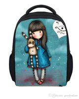 Wholesale Girl Printing Cute Cartoon School Bags inches Teen Girls Backpack Gift For Kids Retail For Students
