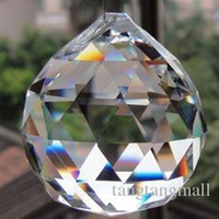 Wholesale 30pcs crystal faceted ball for wedding ball chandelier garland strand ball pendant fengshui ball