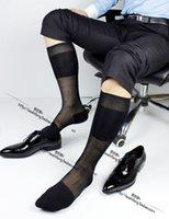 Wholesale 2016 tnt stocking mens formal nylon ultra thin multi color long knee high socks men sexy dimond plaid design man fashion hot sox