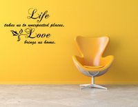 Wholesale Life love Wall Say Quote Word Lettering picture Art Vinyl Sticker Decal home living room stickers