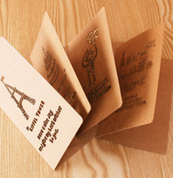 thank you cards - 2015 Unique Romantic Postcards Wishing Birthday Cards Thank you Giving Vintage Greeting Cards gsm Kraft paper Animal Blessing Gifts cards