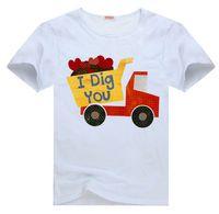 dump truck - Dump Truck I Dig You Valentine Tee t shirt for kid Boy Girl clothing top clothes cartoon tshirt Dress