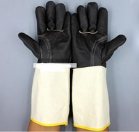 Wholesale high quality leather welding gloves wear protective gloves for industrial welding works