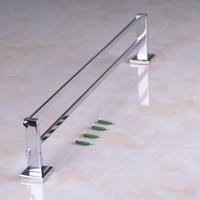 bath wall shelf - CLOUD POWER Chrome Double Bathroom Towel Shelf with Wall Mounted Copper Towel Racks For