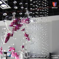 Wholesale Crystal glass bead wedding decoration home furnishings store restaurant