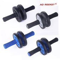Wholesale AD RPCKET mute round abdomen abdominal abs wheel fitness equipment Genuine