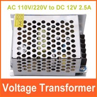 Wholesale AC110V V to for DC V A W Voltage Transformer Switch Power Supply Adapter Driver for Light LED Strip
