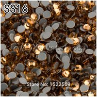 Wholesale 1440Pcs pack SS16 Flatback Glue Base Light Colorado Topaz Color Crystal Glass Hotfix Rhinestones