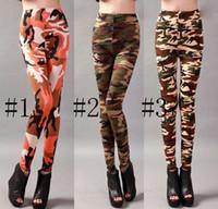 ladies trousers - Army Camouflage leggings milk leggings Women Ladies Sport Sports Fitness Printed Trousers Printed high waist Stretch Floral legging