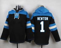 american cams - Black Cam Newton Football Hoodie New Season American Football Lace Up Pullover Hooded Sweatshirt Players Football Wear Hot Sale Hoodies