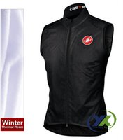 Wholesale Black Polar Fleece Winter cycling sleeveless shirt vest Maillot Cycling Clothing outdoor sports clothing