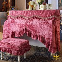 Wholesale Limited warriors thick high grade gold velvet cover piano piano sets the whole package embroidered lace stitch Piano cover full