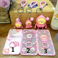 apple pi - New arrive Japan Fairy Farm Pi Taojun fart Kobito peach Harajuku Ring holder cute cartoon Case for Iphone s plus stand casex50
