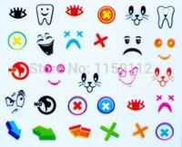 arrow stamp - Hot New Nail Art Stickers Decal D Colorful Smile Tooth Cat Arrow Cute Design Nail Sticker Nails Manicure Foil Stamping Tools
