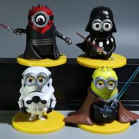 Wholesale 4pcs set Minions Cos Star Wars Action Figures Despicable Me Minions Dolls PVC ACGN figure Brinquedos Anime CM