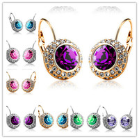 Wholesale 2016 most popular new earrings crystal earrings multicolor mixed batch