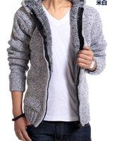Gros-Optionnel Veste stylée Manteaux d'hiver pour les hommes fourrées Designer Hommes capuche doublée de fourrure Vestes Pull livraison gratuite