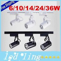 Wholesale 20pcs Led Track Light W W W W W COOL Warm white Led Ceiling Spotlight AC V led spot lighting CE ROHS