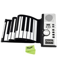 Wholesale Soft Roll Up Electronic Flexible Piano Keyboard Keys Foldable Portable Electric Digital PIANO With MIDI Plug SKP01W order lt no tra