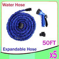 Wholesale HOSE Expandable Flexible Water Garden Hose Flexible Water Hose with valve and Spray Nozzle FT ZY SG