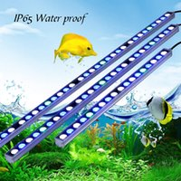 Wholesale High commend Waterproof w LED aquarium grow light bar white blue ip65 for reef coral fish tank light strip stock in USA DE