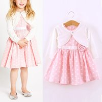 baby capelet - Baby Kids Polka Dot Pattern Sleeveless Dress Capelet Coat Suit Pink Y Girl Clothing