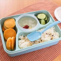 plastic lunch box - Bento Lunch Box Fully Sealed Food compartment Bento Box Soup Bowl With Plastic Scoop Pratos Microwave Meal