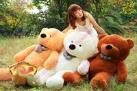 Wholesale 4 FEET TEDDY BEAR STUFFED LIGHT BROWN GIANT JUMBO size cm
