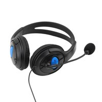 Wholesale 2016 Hot pc Wired Gaming Headset Headphones with Microphone for Sony PS4 for PlayStation est Worldwide Hot Drop