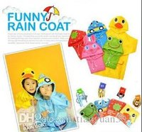 Wholesale New Kids Rain Coat children Raincoat Rainwear Rainsuit Kids Waterproof Animal Raincoat TY316 raincoat