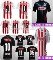 wholesale mexico - New Jersey New Mexico away black Guadalajara Chivas oBRAVO REYNA Soocer NJ DE NIGRIS Training Football Shirt