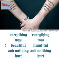 beautiful things - Temporary tattoos Waterproof tattoo stickers body art Painting for party event decoration every thing was beautiful