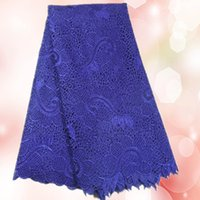 Wholesale Nice looking dark purple guipure lace fabric for dress New African chemical water soluble lace fabric Item TWL11 yd