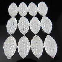 Wholesale Contas de resina x mm Oval cristal strass resina Oval natator Beads brilho cola Diy