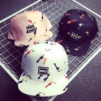 baseball stamps - New Design Korean ladies fashion baseball cap bird stamp