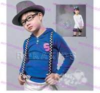 belt bukles - Hot selling multicolour Fashion kids solid colors striped Suspenders children Suspenders boys girls belts bukles colors choose freely