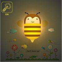 bee sensor - Kitop Hot sale Round Head Plug Electric Induction Dream cute bee Led night light Lamp LED Lamp sensor V Lamp led night lights