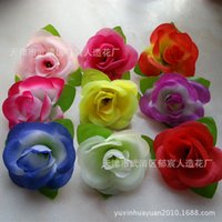 parterre - Huaqiang style parterre works with rose flowers artificial flowers silk flower head