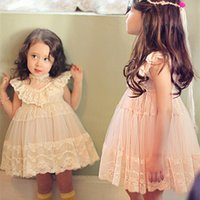 Wholesale Bala_bala Children Girl Korean Style Brand Dress Children s Girls Sleeveless Sweet Dress Kids Girl Lace Princess Dresses B