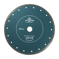 Wholesale 250mm Continuous Rim Diamond Blade Saw Turbo Grantie Marble Cutting Tools