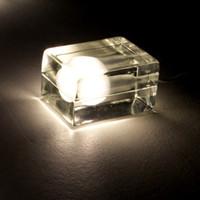 Wholesale Ice Cube Table Light glass Crystal desk lamp ice block LED table lamp G9 W Bulbs Night light Harri Koskinen house block Holiday light