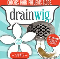 bath sink drain - USA DrainWig Shower Drain Hair Catcher in a Blister Universal Hygienic Bathroom Kitchen Sink Bath