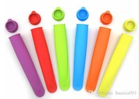Cheap Silicone Ice Cream mould Push Up Jelly Lolly Pop Maker Popsicle Ice Cream Mould Mold