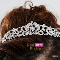 prom hair accessories - Beautiful Cheap Crystal Sparkly Flower Tiaras Hair Accessories Wedding Headbands Crowns Bridal Jewelry for Party Prom Girl In Stock