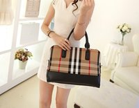 designer purses - canvas striped big tote hotsale women designer shoulder shopping bags ladies party purse wedding clutches british plaid handbags