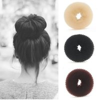 Wholesale Hair Donut Bun Ring Shaper Styler hair Maker Tool Brown Black Beige Hairdressing